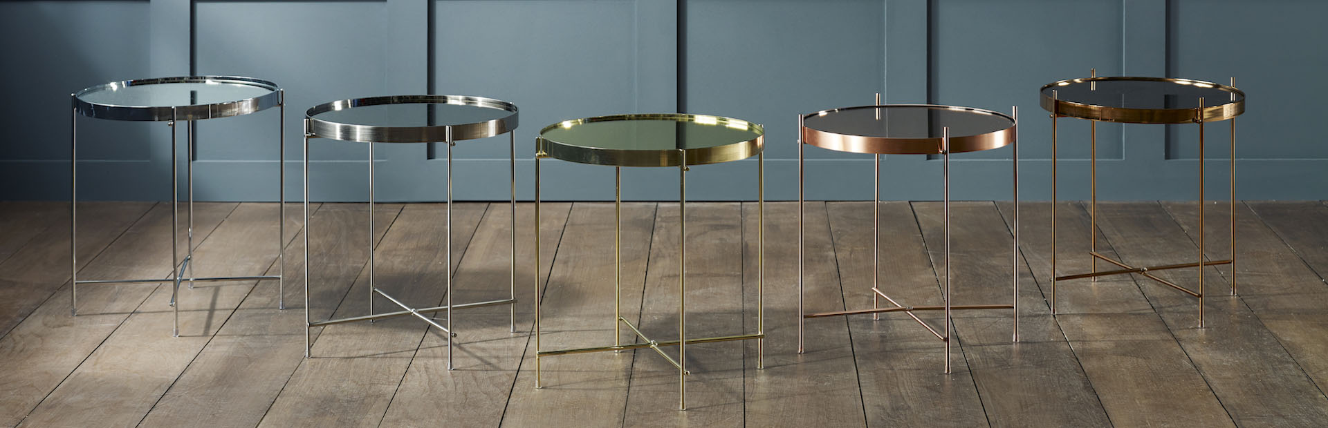 Striking Metallic Tables