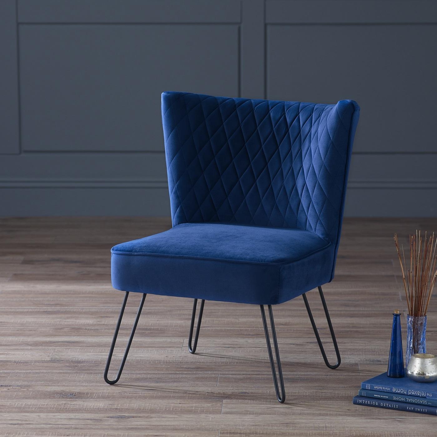 Midnight Blue Living Room: Tarnby Chair Midnight Blue