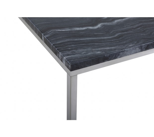 Temahome Gleam Black Marble Chrome Rectangle Coffee: Signet Coffee Table In Black Marble And Chrome