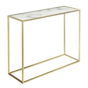 Swan Console Table - White and Gold