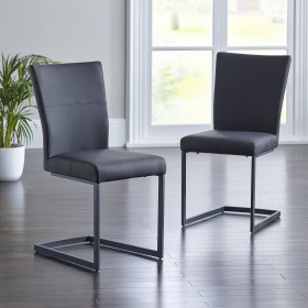 Asby Dining Chair - Black (Pair)