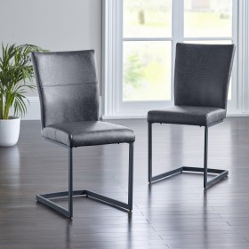 Asby Dining Chair - Grey (Pair)