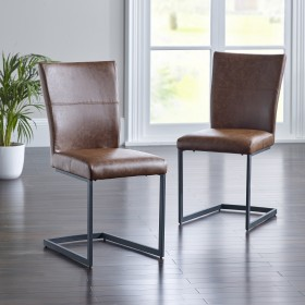 Asby Dining Chair - Tan (Pair)