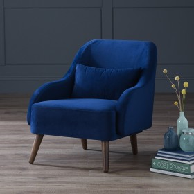 Flena Velvet Armchair - Midnight Blue