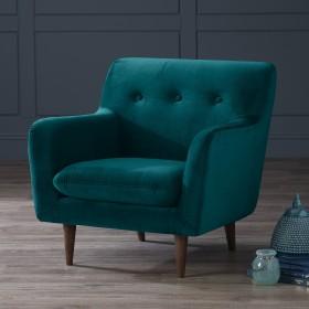 Karran Velvet Armchair - Teal