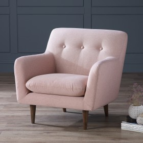 Karran Fabric Armchair - Pink