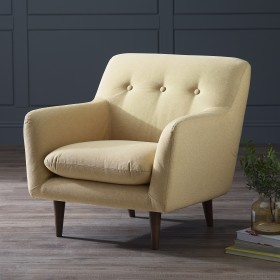 Karran Fabric Armchair - Yellow