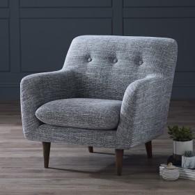 Karran Fabric Armchair - Grey