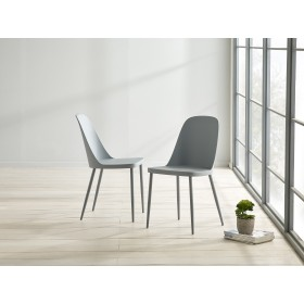 Herlev Dining Chair - Cool Grey (Pair)