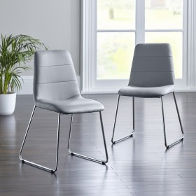 Parnu Dining Chair - Grey (Pair)