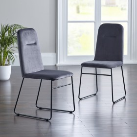Keila Dining Chairs - Grey (Pair)
