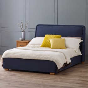 Vaxan Double Bed - Navy Blue
