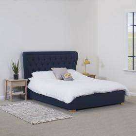 Getan Double Bed Navy Blue