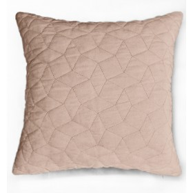 Simo Quilted Velvet Cushion - Blush Pink
