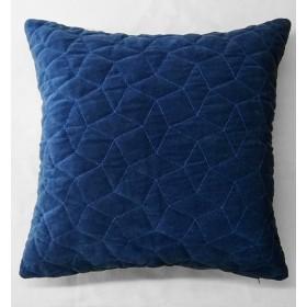 Simo Quilted Velvet Cushion - Blue