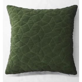 Simo Quilted Velvet Cushion - Green