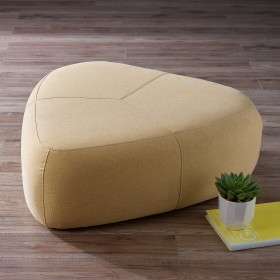 Laan Large Footstool - Yellow