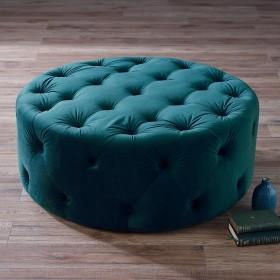 Nordan Large Footstool - Teal