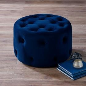 Nordan Small Footstool - Midnight Blue