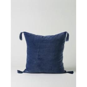 Skasen Velvet Cushion - Navy Blue