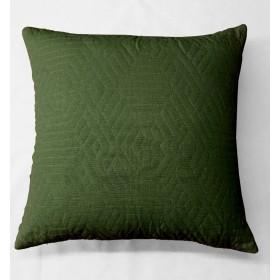 Kemi Quilted Velvet Cushion - Green