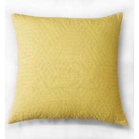 Kemi Quilted Velvet Cushion - Ochre