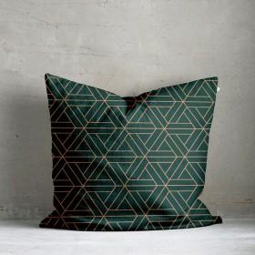 Kala Geo Print Cushion - Green