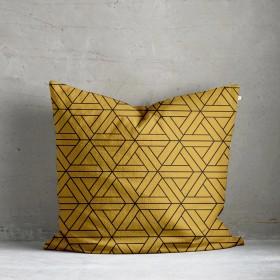 Kala Geo Print Cushion - Ochre