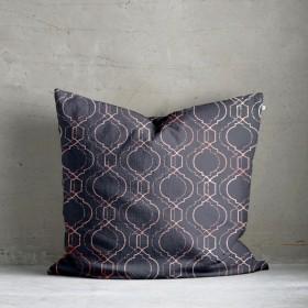 Vasko Metallic Print Cushion - Pink