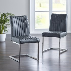 Arnas Dining Chair - Grey (Pair)