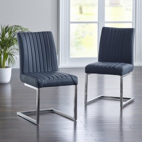 Arnas Dining Chair - Black (Pair)