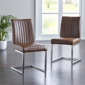 Arnas Dining Chair - Tan (Pair)
