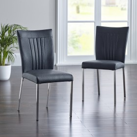 Dundee Dining Chair - Black (Pair)