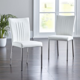 Dundee Dining Chair - White (Pair)