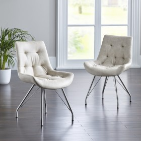 Bua Dining Chair - Antique White (Pair)