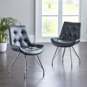 Bua Dining Chair - Grey (Pair)