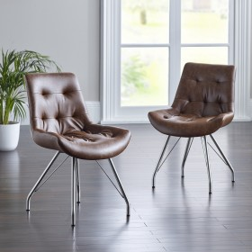 Bua Dining Chair - Tan (Pair)