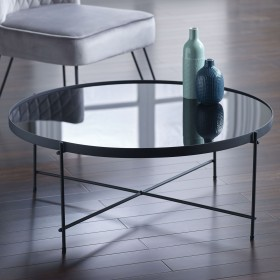 Oakland Black Round Coffee Table