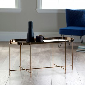 Oakland Copper Oblong Coffee Table