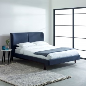 Nisser Double Bed - Navy Blue