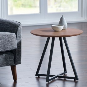 Ivalo Side Table - Ivalo Walnut Side Table