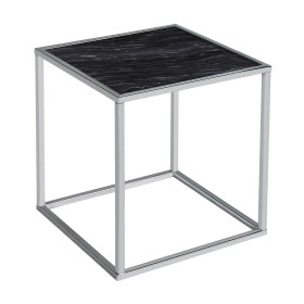 Swan Side Table - Black and Chrome