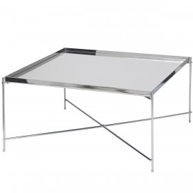 Oakland Chrome Square Coffee Table