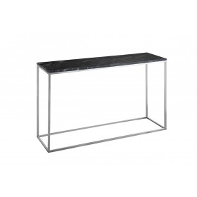 Signet Console Table in Black Marble and Chrome