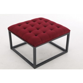 Falun Small Footstool - Ruby Red