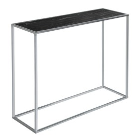 Swan Console Table - Black and Chrome