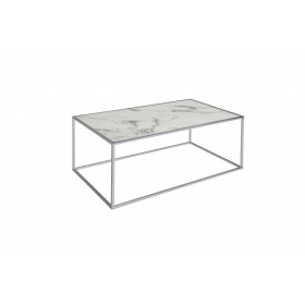 Swan Coffee Table - White and Chrome