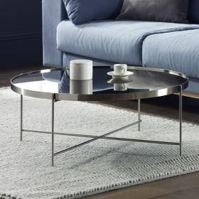 Oakland Chrome Round Coffee Table