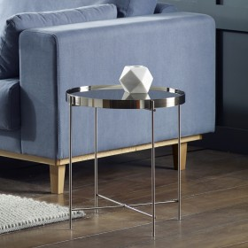 Oakland Chrome Round Side Table