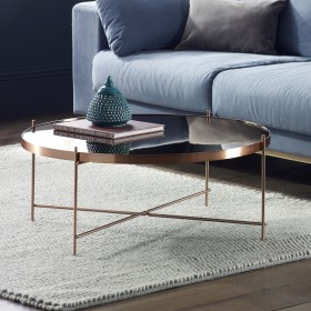Oakland Copper Round Coffee Table